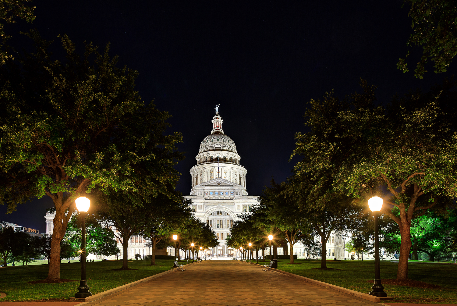 Texas State Capitol Walkway