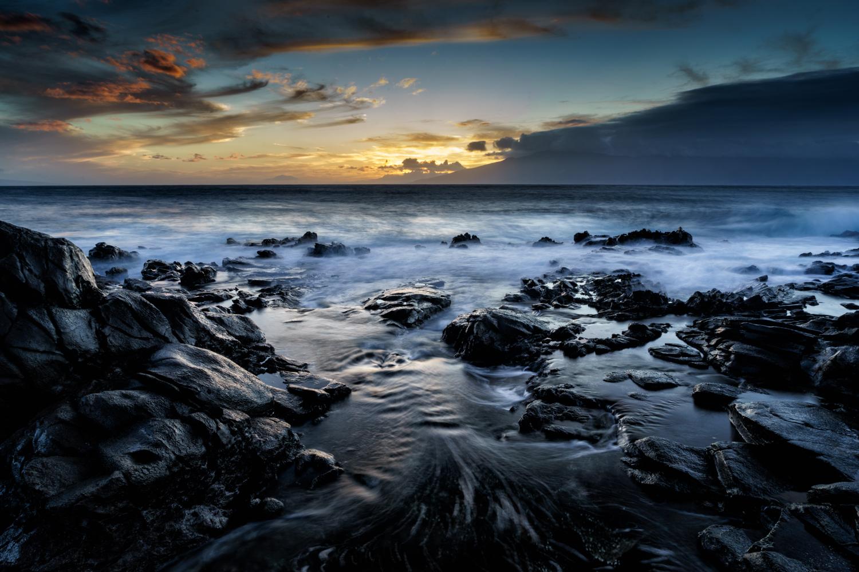 Sunset at Namalu Bay in Maui