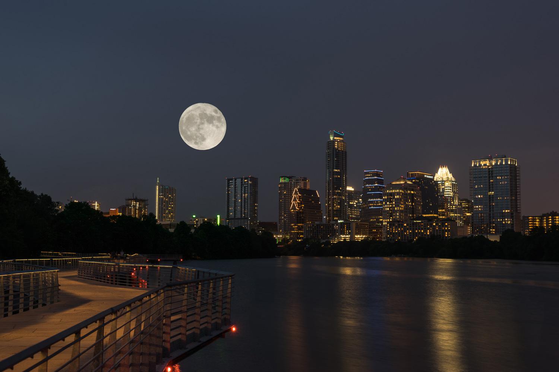 Moon over Austin