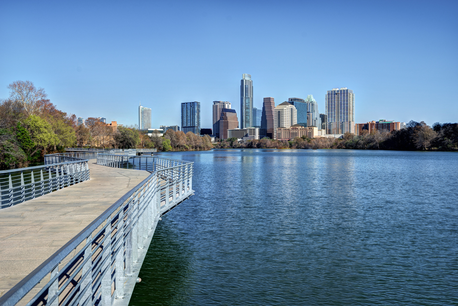 Downtown Austin with Walkway