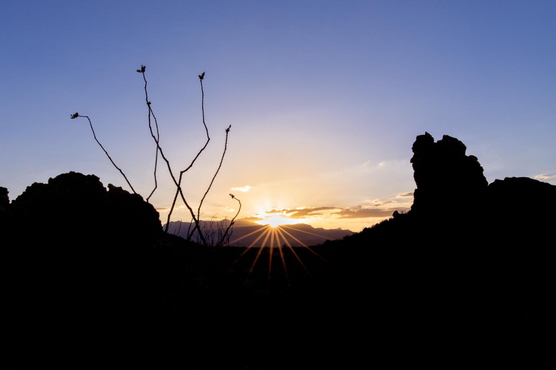 Sunrise on Chimney's Trail