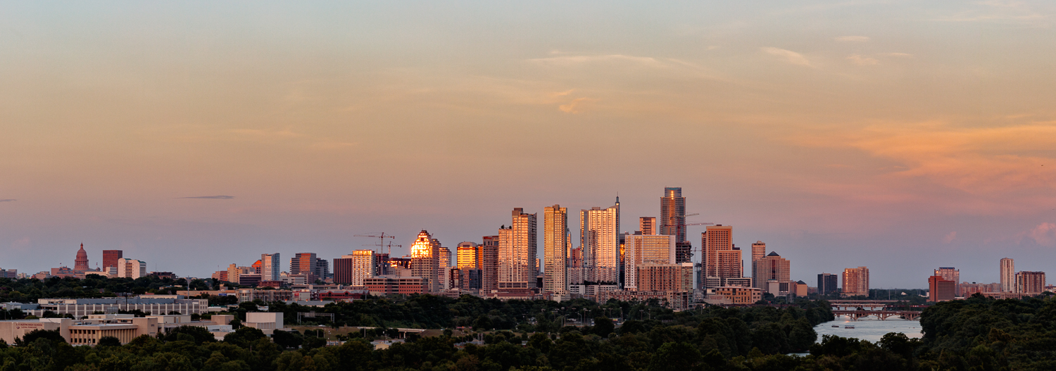 Austin Skyline Sunset