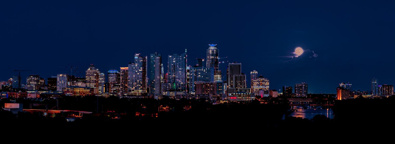 Austin Skyline - Strawberry Moon