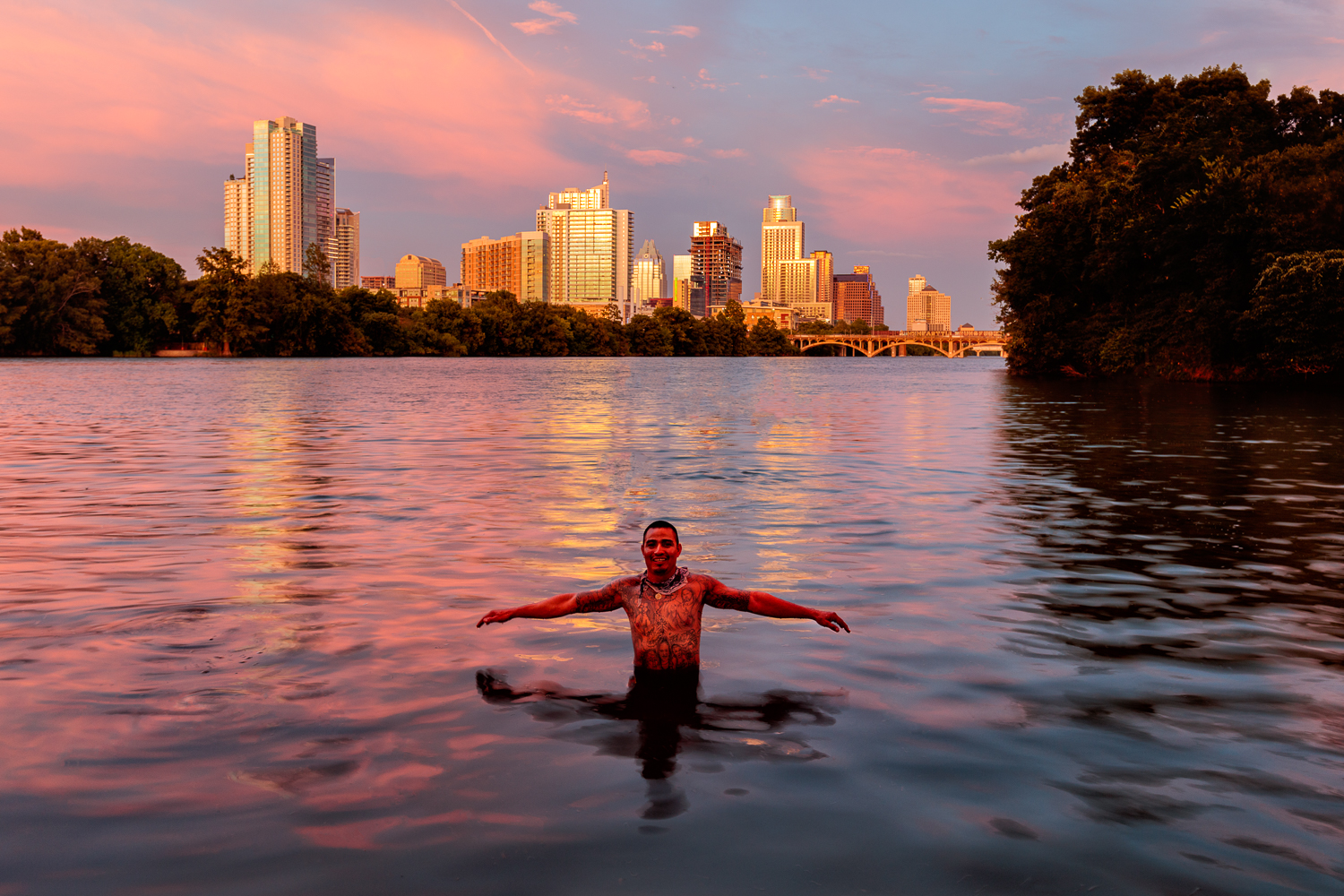 Swimming at Lou Neff Point