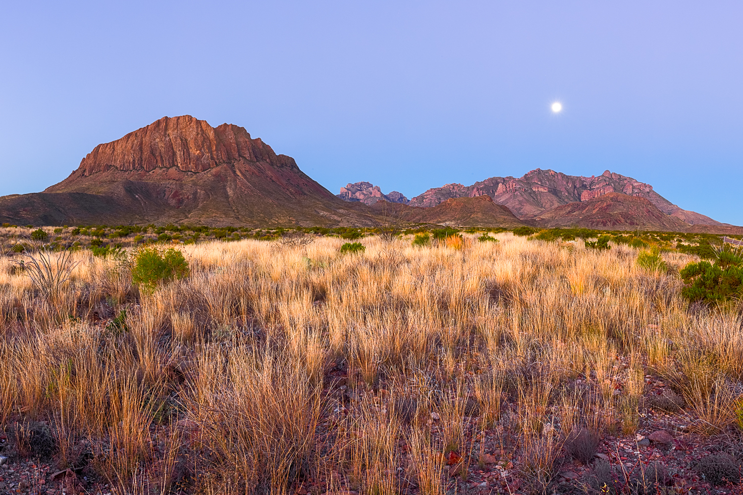 Glen Springs Sunrise and Moonset
