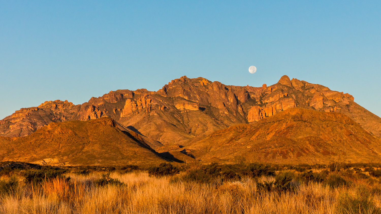 Chisos Moonset