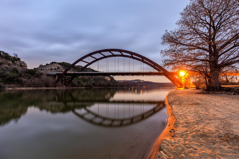 Pennybacker Bridge Reflection