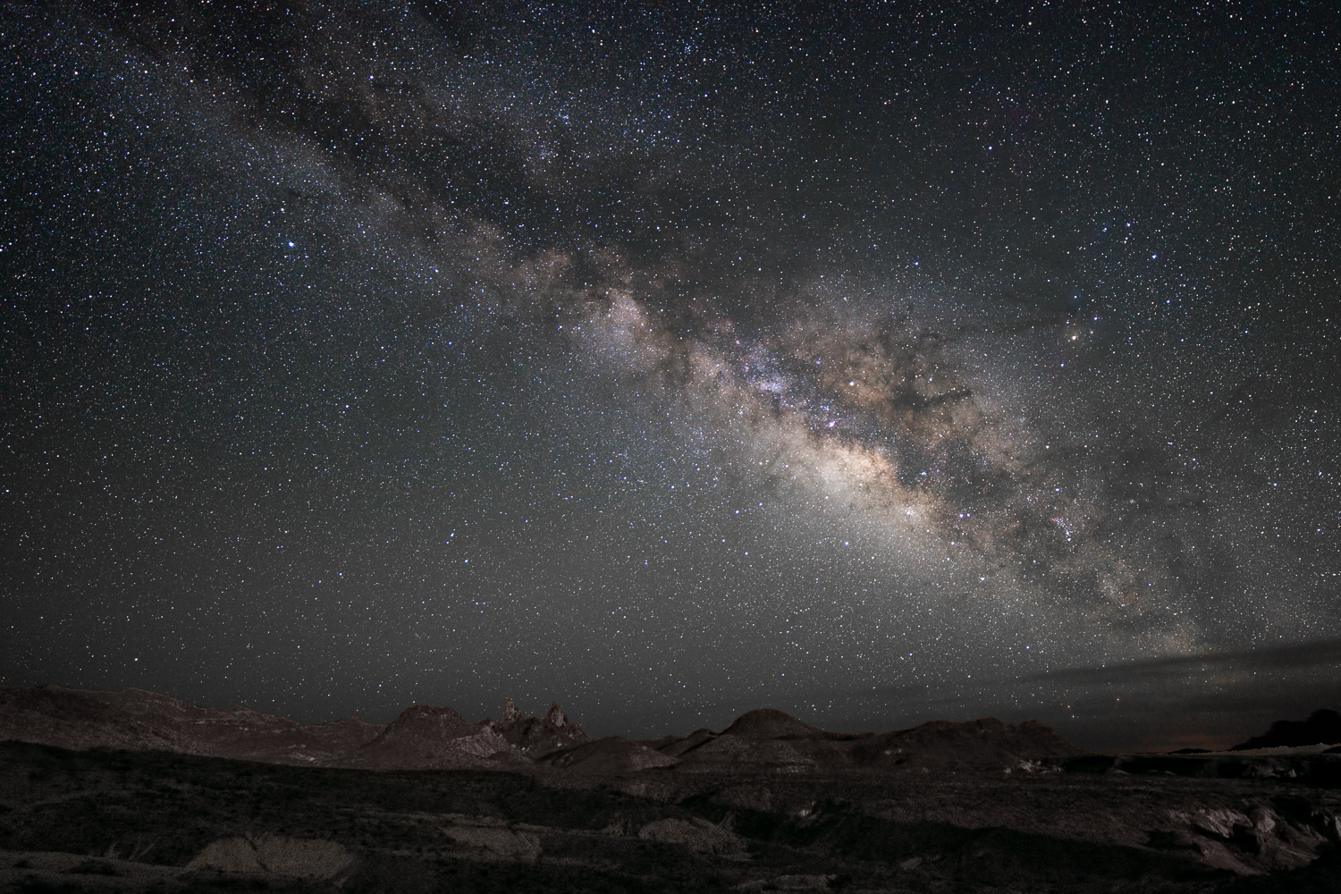 Milky Way over Mule Ears