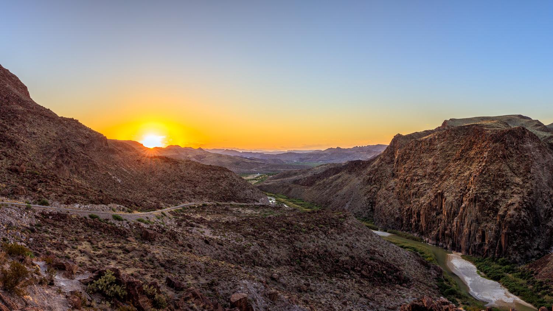 Big Hill Sunrise Panorama