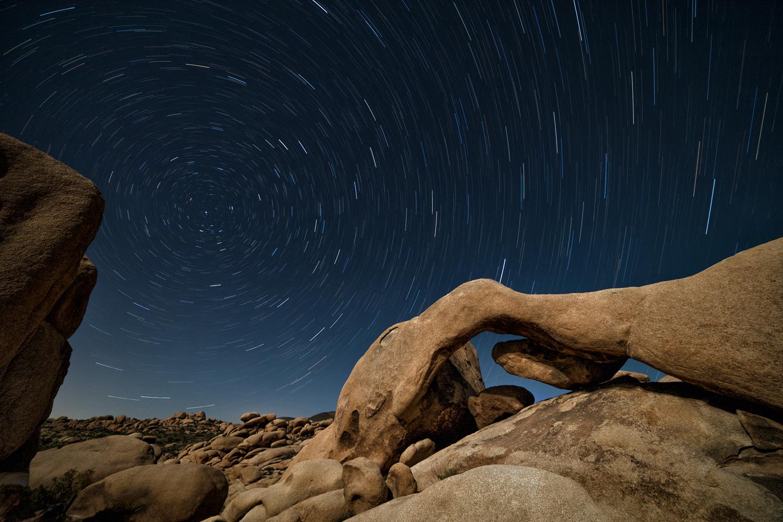 Arch Rock Star Trails
