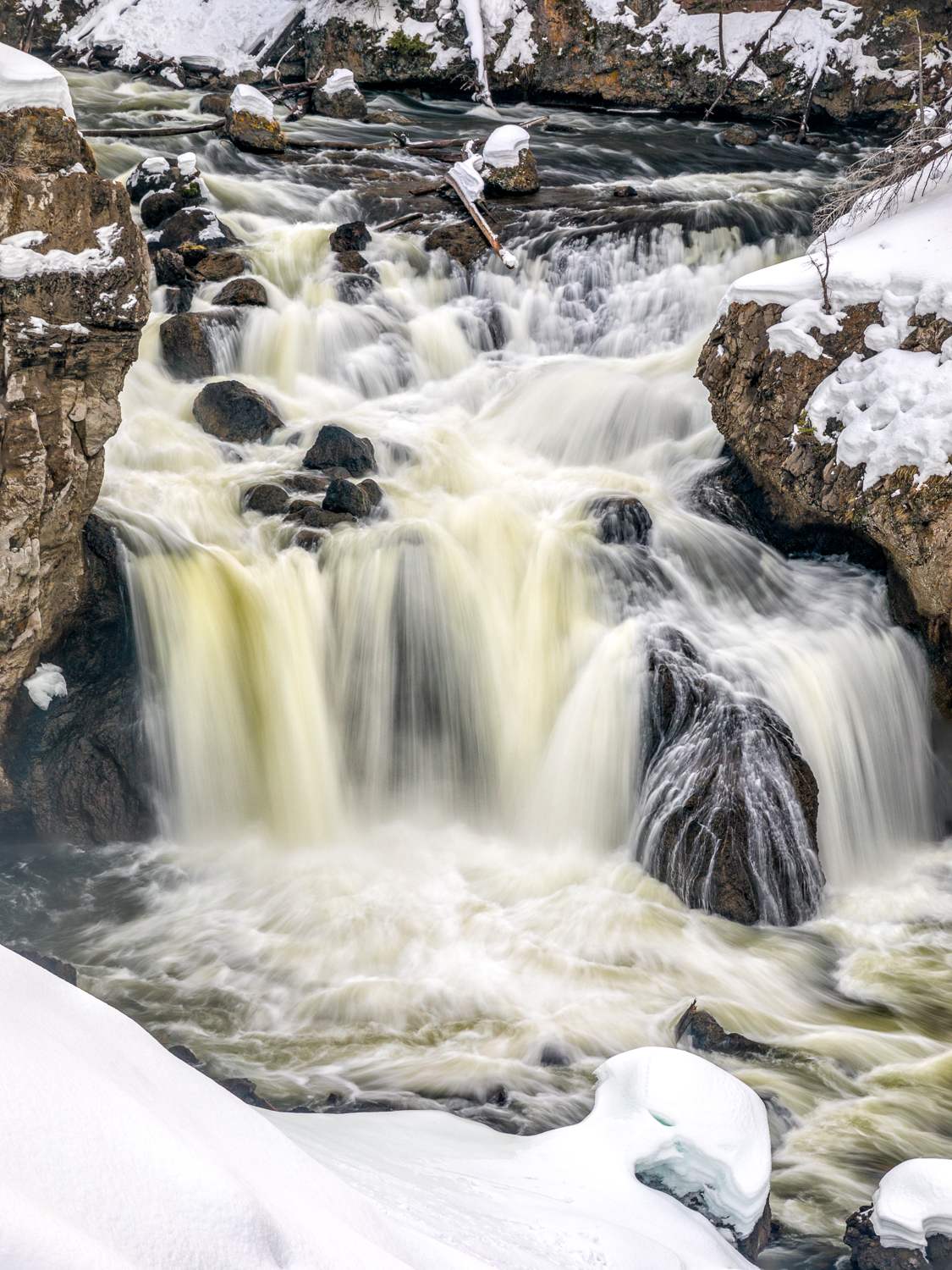 Winter at Firehole Falls